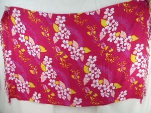 Hawaiian flower lei fuchsia sarong