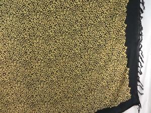 animal print sarong black on 4 borders