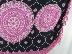pink black sarong mandala circle