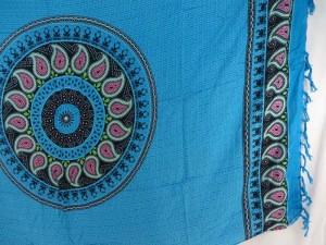 blue paisley mandala sarong