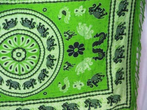 hippie clothes wholesale green elephant mandala sarong