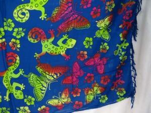 blue butterfly gecko sarong
