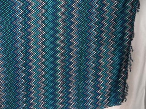 zig zag teal blue sarong