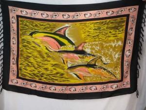Women's Dolphin Beach cover up sarong wrap earth yellow