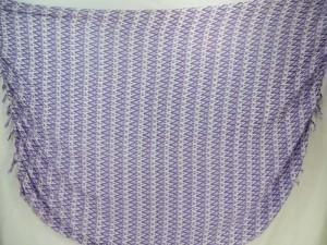 geomatrical purple zig zag on white sarong