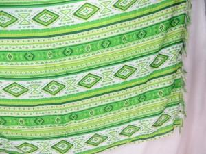 green geomatic design sarong