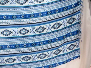 blue geomatic design sarong
