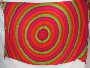 pink orange green large circles sarong