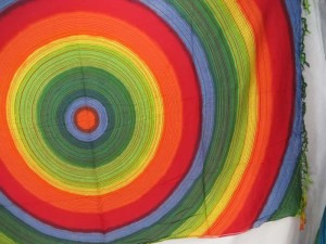 rainbow large circles sarong