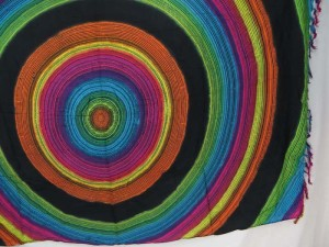 black rainbow large circles sarong