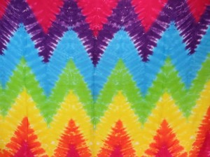 zig zag tie dye rainbow color sarong, no fringe assorted colors randomly picked by our warehouse staffs
