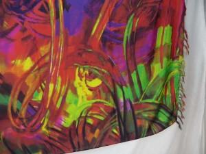 exotic art print sarong