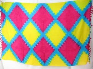 tie dye diamond shape tiles mixed designs and colors