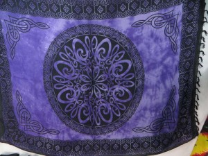 purple celtic circle knotwork interlaced sarong wall hanging