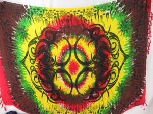 rasta large tattoo hippie clothing sarong wrap