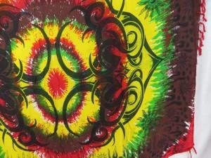rasta large tattoo hippie clothing sarong wrap