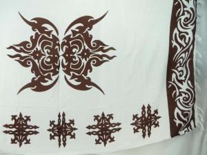 hippie clothing brown tattoo white sarong wrap