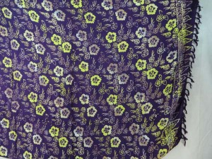 balinese sarong hibiscus flower double processs purple sarong