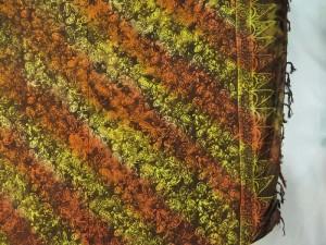 balinese sarong double processs brown yellow sarong small paisley