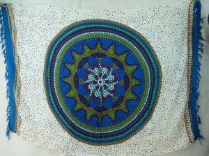 blue Indina star mandala sarong on white blue edge hiphop clothing wholesale apparel