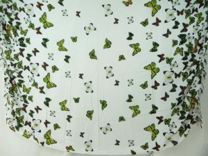 Caribbean fashion wholesale flying butterfly sarong green yellow white