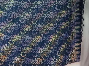 bohemian vintage print sarong double process blue little purple