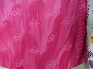 fuchsia hibiscus tie dye sarong summer dress beach cover up