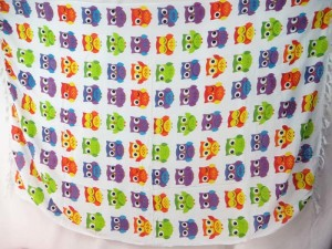 cute owls sarong beach dress skirt