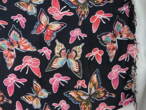 pink butterly black sarong Caribbean fashion wholesale
