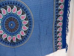 Blue Hippie Paisley Mandala Tapestries Wall Hanging Sarong