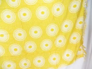 yellow small mandala circles sarong wrap hippie dresses