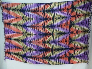 multiple colors tie dye sarong