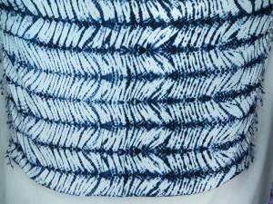 blue feather stripes tie dye sarong