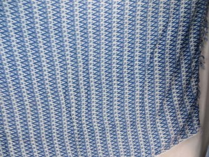 blue geomatrical patterns sarong