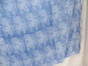 light blue busy pattern sarong