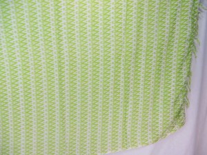 green geomatrical patterns sarong