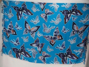 blue butterfly sarong