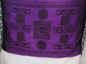 purple celtic sarongs knotwork wall hangings hippie shawls