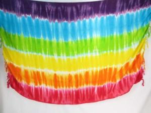 tie dye stripes sarong