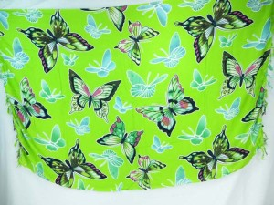 Green butterfly sarong summer dress beach cover up