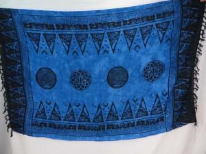 Irish celtic design blue sarong cruise beach sarong