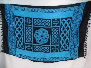 blue interlaced knotwork celtic sarong