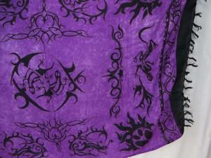 purple tattoo tribal sarong kanga lava-lava