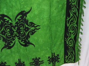 green black tattoo sarong cover-up dress women kanga