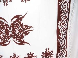 brown white tattoo sarong