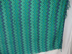teal green zig zag swimwear coverup sarong pareo luau dress