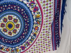 blue mandala floral sarong