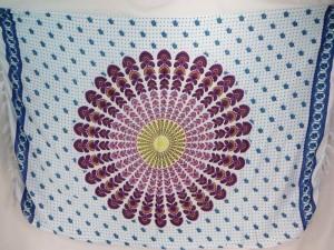 pink purple peacock feather boho gypsy scarf wrap Bohemian mandala sarong