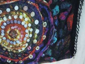abstract art universe plants sarong