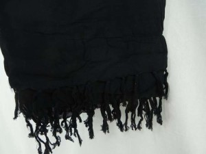 solid black sarong